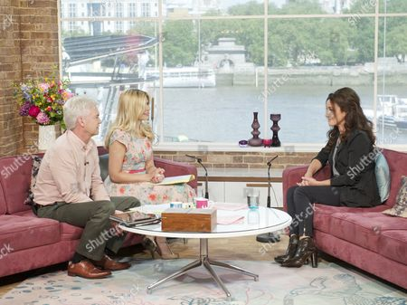 Phillip Schofield and Holly Willoughby with Orla Brady