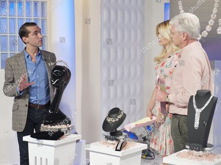 James Sherwood with Phillip Schofield and Holly Willoughby