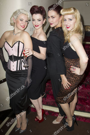 Stock Image of Joanna Woodward (Performer), Miss Polly Rae (Performer), Rachel Muldoon (Performer) and Caroline Amer (Performer) Attend the After Party