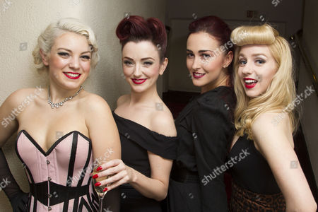 Stock Picture of Joanna Woodward (Performer), Miss Polly Rae (Performer), Rachel Muldoon (Performer) and Caroline Amer (Performer) attend the after party