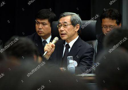 Masataka Shimizu, former president of Tokyo Electric Power Co