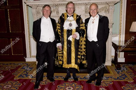 Lord Chancellor Kenneth Clarke, Lord Mayor David Wootton and Lord Chief Justice of England and Wales Baron Igor Judge