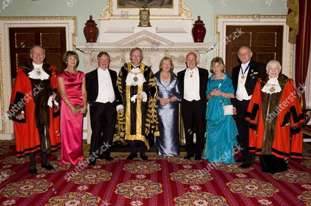 (L to R) Sheriff Alan Yarrow, Gilly Orr, Lord Chancellor Kenneth Clarke, Lord Mayor David Wootton, Lady Mayoress Liz Wootton, Lord Chief Justice of England and Wales Baron Igor Judge, The Lady Judge, Robert Tipping and Sheriff Wendy Mead