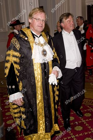 Lord Mayor David Wootton and Lord Chancellor Kenneth Clarke