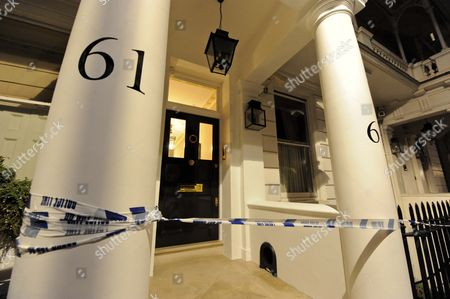 62 Cadogan Place taped off by police