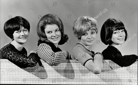 Camilla Brockman Sylvia Kay Jan Walters And Wendy Gifford Actresses From Tv Drama Series The Rat Catchers 1966.