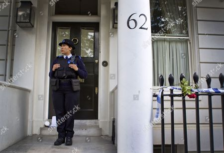 Police at 62 Cadogan Place