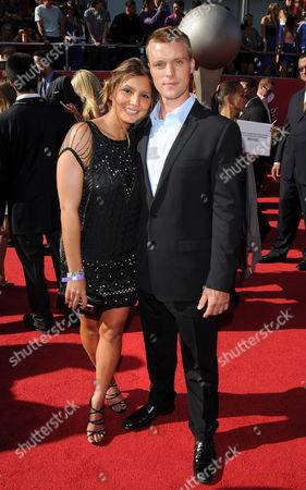 Maya Gabeira and Jesse Spencer