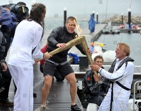 Editorial photo of Olympic Torch Relay, Dorset, Britain - 12 Jul 2012