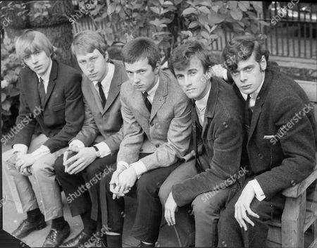 The Yardbirds Pop Group L To R Keith Relf Christopher Dreja Eric Clapton Jim Mcgarty And Paul Samwell-smith