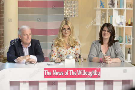 Stock Picture of Kelvin McKenzie, Holly Willoughby and Petrie Hosken
