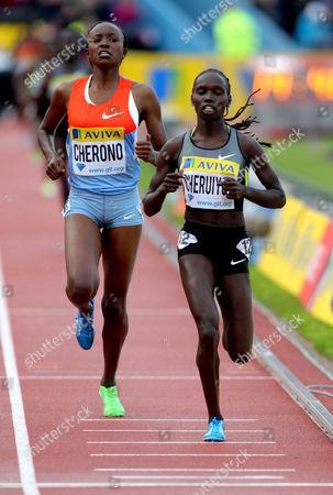 Stock Photo of Vivian Jepkemoi Cheruiyot (KEN) wins the 5000m ahead of Mersy Cherono (L - KEN)