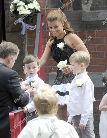 Stock Picture of Kai Rooney, Coleen Rooney