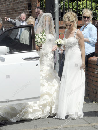 Editorial photo of Leanne Rooney and Brian Heffey wedding, St Mary's Church, Crewe, Britain - 14 Jul 2012