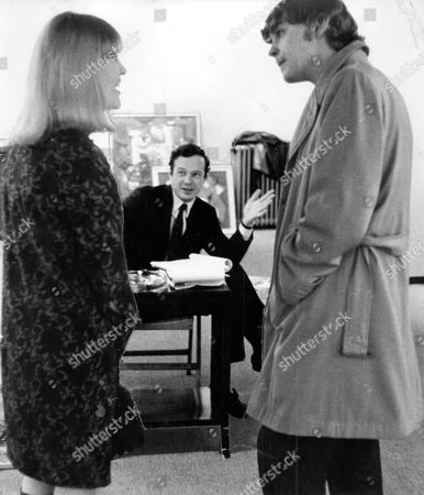 Record Producer And Manager Brian Epstein With Actress Christine Hargreaves And Actor Hywell Bennett At The Arts Theatre