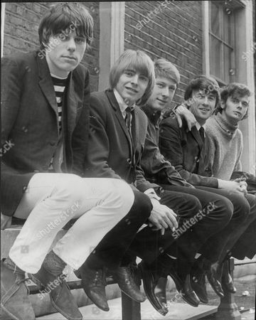 Editorial picture of The Yardbirds Pop Group Left To Right Jeff Beck Keith Relf (dead May 1976) Chris Dreja Jim Mccarthy And Paul Samwell Smith