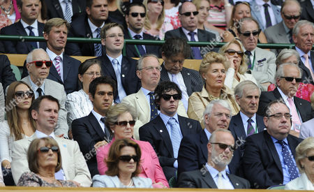 Editorial picture of Wimbledon Mens Tennis Final 2011 Day Thirteen 03/07/2011 Rafa Nadal Vs Novak Djokovic Pic Andy Hooper.daily Mail Novak Djokovic Won The Final 6-4 6-1 1-6 6-3. The Audience At The Mens Final Including: Rory Mcilroy John And Norma Major Lord Lawson And