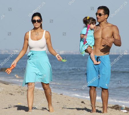 Courtney Laine Mazza, Mario Lopez and Gia Francesca Lopez,