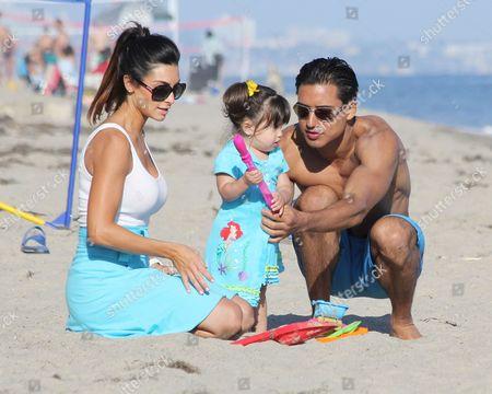 Courtney Laine Mazza, Gia Francesca Lopez and Mario Lopez