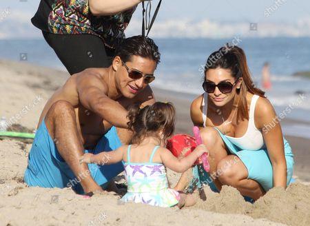 Mario Lopez, Gia Francesca Lopez and Courtney Laine Mazza