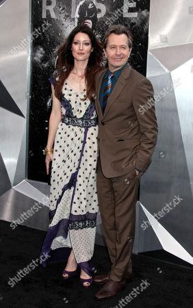 Gary Oldman with wife Alexandra Edenborough