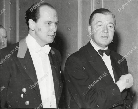 11th Duke Of Devonshire (l) And Sir Richard Sykes - 1957
