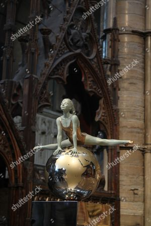 Stock Image of Olympic gymnast sculpture by artist Eleanor Cardozo