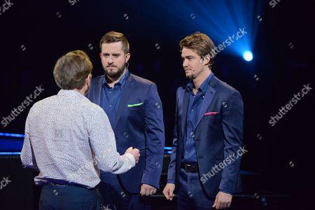 Sir Andrew Lloyd Webber talking to Tim Prottey-Jones and Dirk Johnston