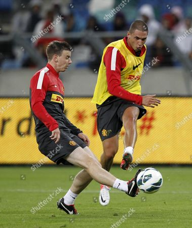 Editorial image of Manchester United Football Club training session at Moses Mabhida Stadium, Durban, South Africa - 17 Jul 2012