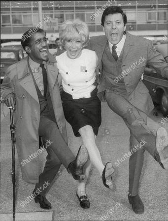 Sammy Davis Junior (dead May 1990) With Lionel And Joyce Blair