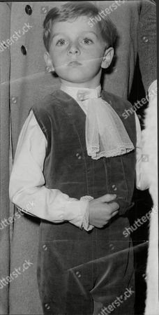 5 Year Old David Montgomery A Page Boy At The Wedding Of Balinda Earle And Patrick Drury Lowe At St Paul's Knightsbridge