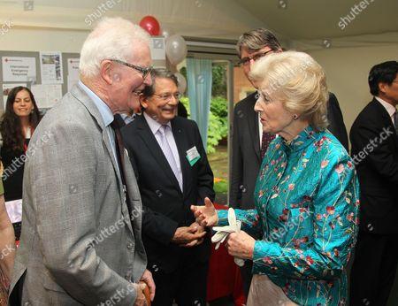 Sir Douglas Hurd and Princess Alexandra of Kent