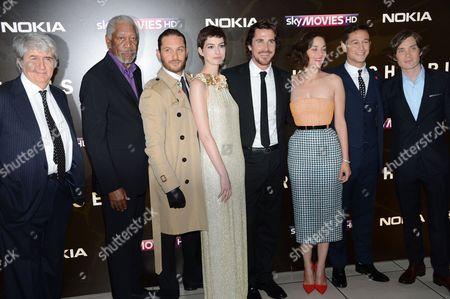 Tom Conti, Morgan Freeman, Tom Hardy, Anne Hathaway, Christian Bale, Marion Cotillard, Joseph Gordon-Levitt and Cillian Murphy