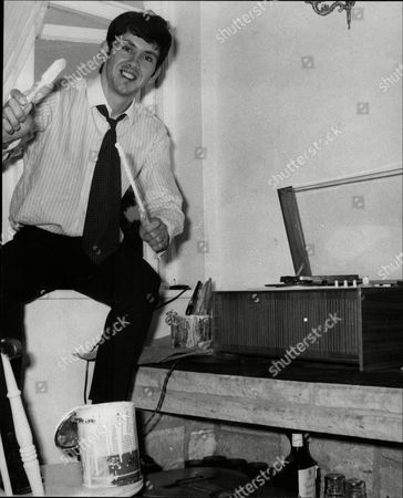 Frank Allen Member Of Pop Group 'the Searchers' Painting His New Home - 1966