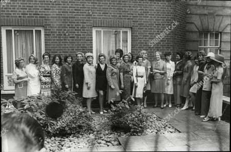 Pye Group Ladies Of Television Luncheon Back Row Left To Right Liz Fox Tricia Madden Bunty James Valerie Singleton Justine Lord Noel Gordon Thora Hird Joan Gilbert Sandra Gough Jeanne Heal Sylvia Peters Katheryn Davies Angela Rippon And Marion White. Front Row Left To Right Pat Eaglestone Jill Bechley Liz Carse Sheila Kennedy Katie Boyle Jane Probyn Mary Malcolm And Judith Chalmers