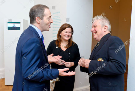 Ian Livingston, CEO of BT and Suzi Williams, Director BT Brand and Marketing with photographer Brian Griffin