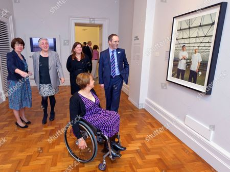 Pim Baxter, NPG, Ruth MacKenzie, Director of the Cultural Olympiad, Suzi Williams, Director BT Brand and Marketing, Baroness Tanni Grey-Thompson, Paralympian and Ian Livingston CEO of BT