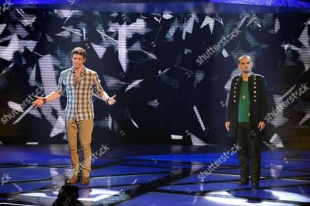Stock Image of Niall Sheehy and Rory Taylor during the sing-off