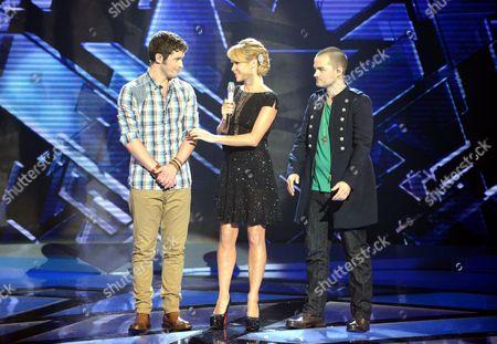 Niall Sheehy, Amanda Holden and Rory Taylor