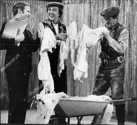 David Hamilton Ken Dodd And Graham Stark Perform The Clogg Dance On Tripe Sketch On The Ken Dodd Tv Show