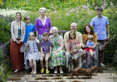 Princess Alexandra of Sayn-Wittgenstein-Berleburg, Count Richard von Pfeil und Klein-Ellguth, Countess Ingrid von Pfeil und Klein-Ellguth, Princess Benedikte, Prince Christian, Queen Margrethe II, Prince Henrik, Princess Isabella, Crown Princess Mary, Prince Vincent, Crown Prince Frederik