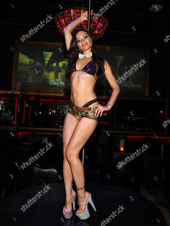 Editorial image of Sarah Tressler 'Diary of an Angry Stripper' book tour at Crazy Horse III, Las Vegas, America - 20 Jul 2012