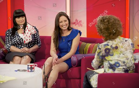 Stock Picture of Anu Bhatia, Charlotte Fantelli with Presenter Nadia Sawalha