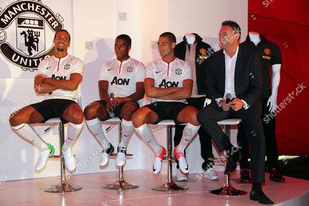Antonio Valencia, Rio Ferdinand and Frederico Macheda