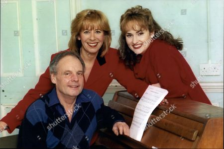 Singer Marti Webb And Songwriter Tony Hatch And Actress Nicola Dawn (right)