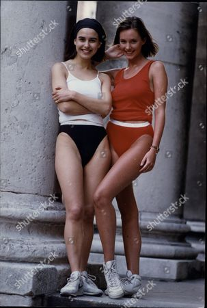 Women Fashion Underwear Model's Kay Beckenham (right) And Kathleen Baird Murray Wearing Jockey Underwear