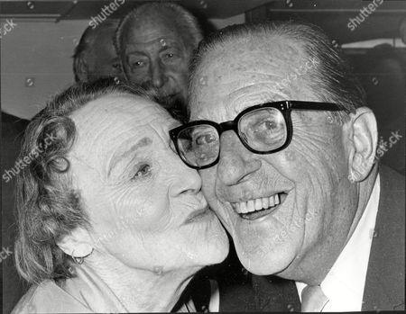 Stock Image of Stanley Holloway With Fay Compton 80 Years Old