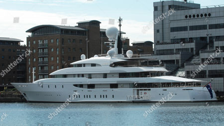 The Ilona luxury yacht belonging to Frank Lowy, co-founder of shopping centre Westfield