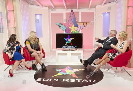 Jodie Prenger and Nathan James with Presenters Eamonn Holmes and Ruth Langsford