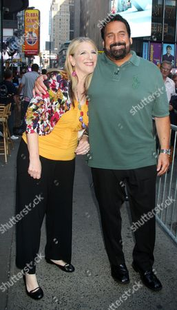 Stock Photo of Lisa Lampanelli and Jimmy Cannizzaro